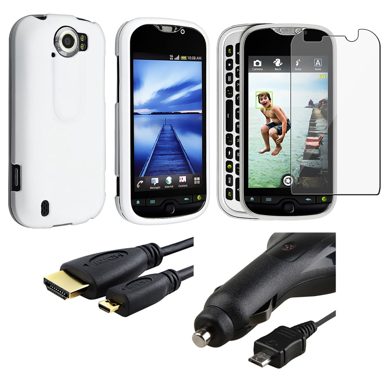 White Case/ Screen Protector/ HDMI Cable/ Car Charger for HTC MyTouch
