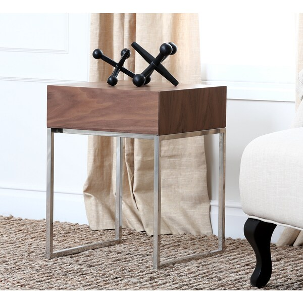 Abbyson Verona Walnut End Table