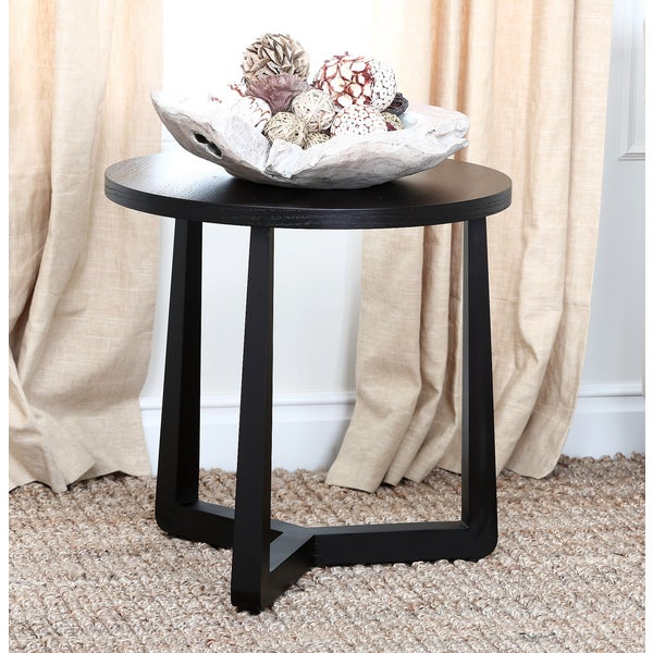 Abbyson Living Wilshire Espresso Round End Table