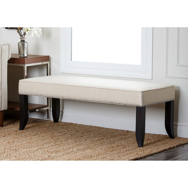 ABBYSON LIVING Camden Cream Fabric Ottoman Bench. Opens flyout.