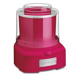 Cuisinart Red Frozen Yogurt-Ice Cream and Sorbet Maker (Refurbished)