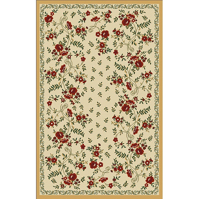 Woven Viscose Anemone Gold Accent Rug (3'3 x 4'7)