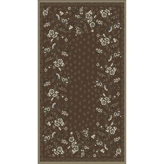 Woven Viscose Anemone Umber Area Rug (5' x 7')