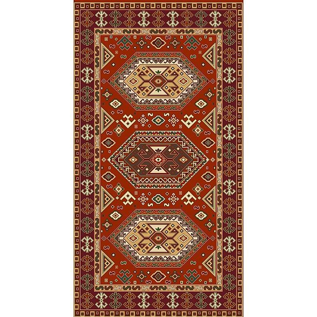 Woven Morocco Red Viscose Accent Rug (3'3 x 4'7)