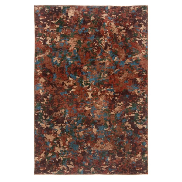 Blended Wool Forest Stone Area Rug (5' x 7')