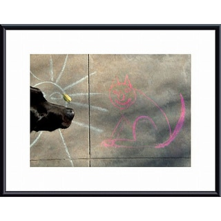 John K Nakata 'Sun, Cat and Dog' Metal Framed Art Print