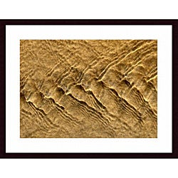 John K Nakata 'Chevron Ripples' Wood Framed Art Print