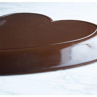 Lang's Chocolates 3-pound Solid Dark Chocolate Valentines Day Heart