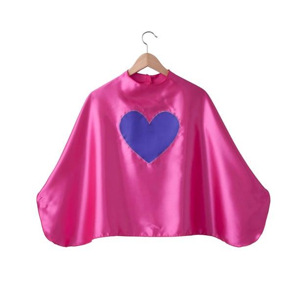 Power Capes Fuchsia with Purple Heart Superhero Cape