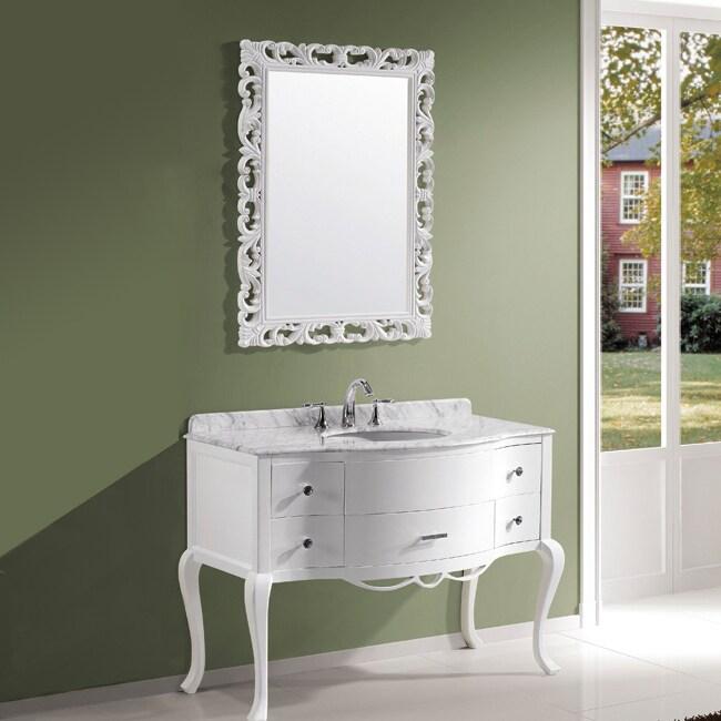 Virtu USA Charlotte Single Sink Bathroom Vanity Set
