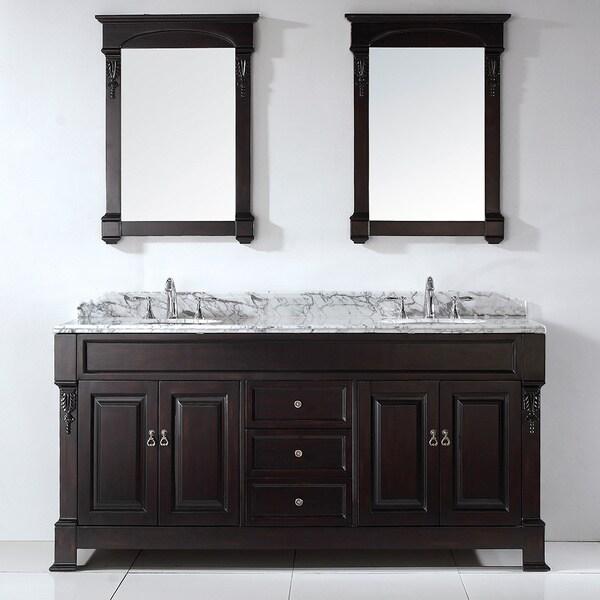 Virtu USA Huntshire 72-inch Double Sink Bathroom Vanity Set