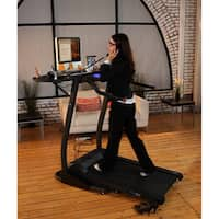 Exerpeutic 990 High-Capacity Work and Fitness Desk Station Treadmill - Black