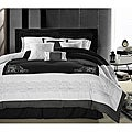 Florence Black/White Queen-size Oversized 8-piece Comforter Set
