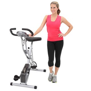Exerpeutic 1200 Folding Pulse Monitor Magnetic Upright Bike - Black