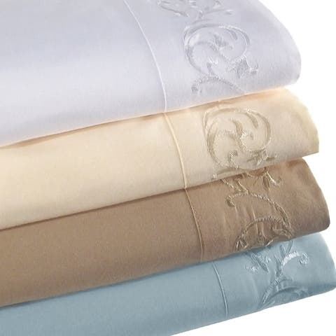 Veratex Symphony Scroll Embroidered 3 & 4 Piece Sheet Set