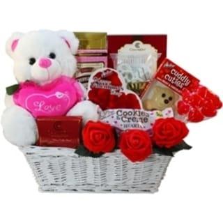 Valentines Treasures' Teddy Bear Gourmet Gift Basket