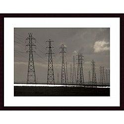 John K. Nakata 'Power Lines' Wood Framed Art Print