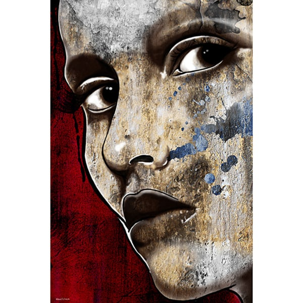 Maxwell Dickson 'I'm Watching You' Modern Canvas Wall Art - Brown