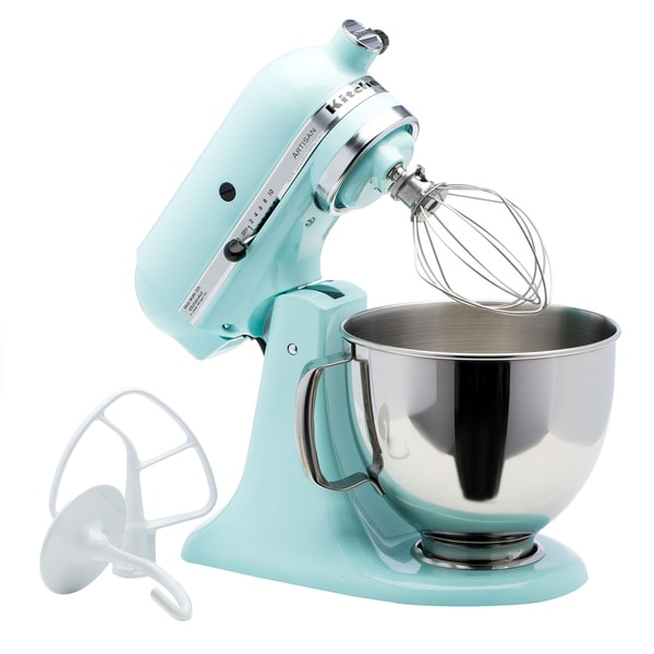 Shop KitchenAid RRK150IC Ice 5-quart Artisan Tilt-Head Stand Mixer on kitchenaid mixer raspberry ice, kitchenaid blue utensils, green kitchenaid mixer ice, kitchenaid mixer ice cream, kitchenaid hand mixer aqua, kitchenaid mixer dimensions, kitchenaid professional mixer, kitchenaid mixer parts list, kitchenaid hand mixer ice, kitchenaid mixer sizes,
