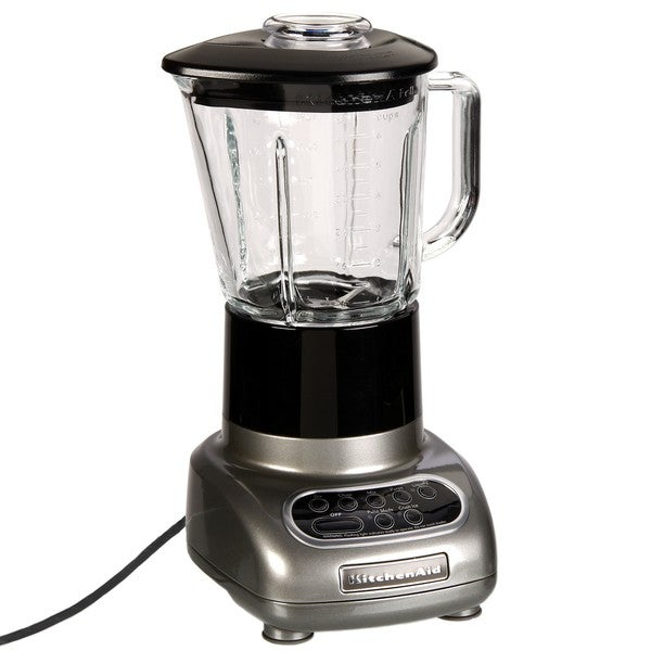 Shop KitchenAid RKSB565MC Metallic Chrome 5-speed Blender with Glass Jar (Refurbished) - Free ...