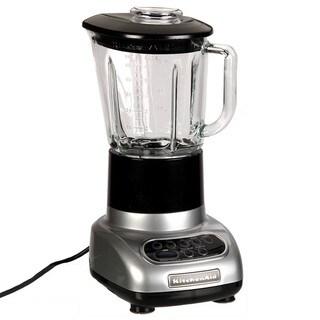 KitchenAid RKSB565CU Contour Silver 5-speed Blender with Glass Jar (Refurbished)