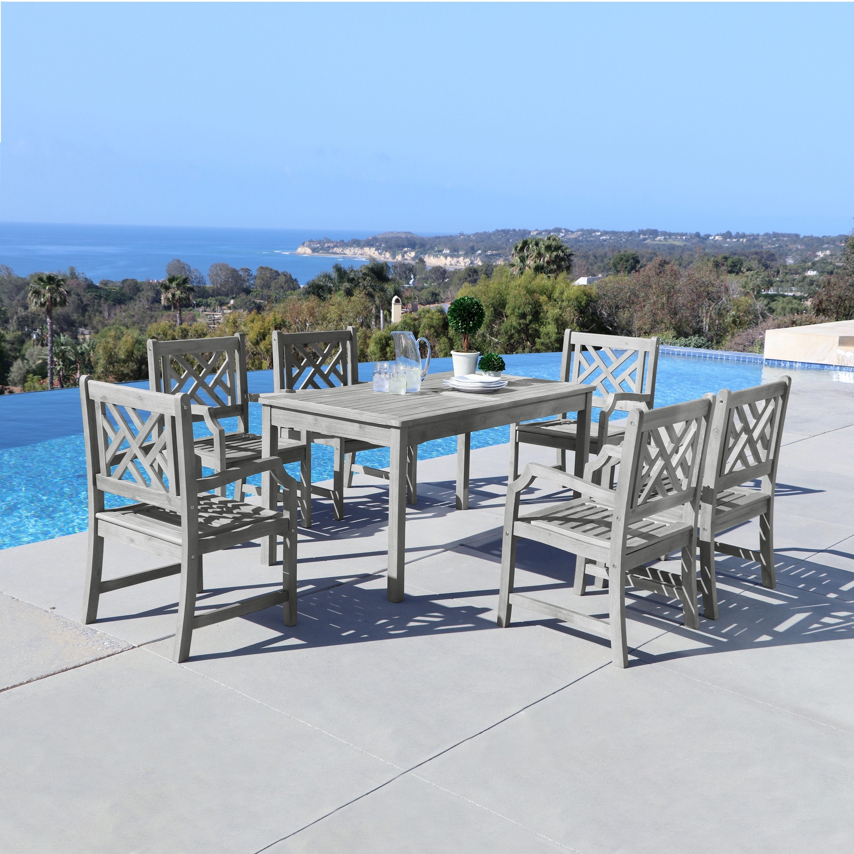 Vifah Renaissance 7-piece Table/ Armchair Outdoor Dining ...