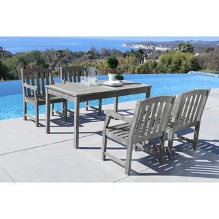 Renaissance 5-piece Table/ Armchair Outdoor Dining Set