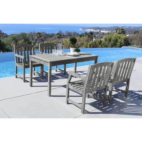 Surfside 5-piece Table/ Armchair Outdoor Dining Set by Havenside Home