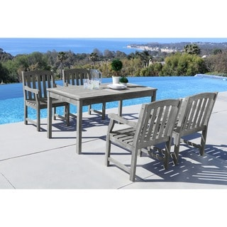 Havenside Home Surfside 5-piece Table/ Armchair Outdoor Dining Set