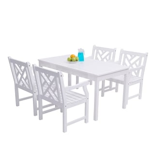 Bradley 5-piece Wooden Table/Arm Chair Outdoor Dining Set