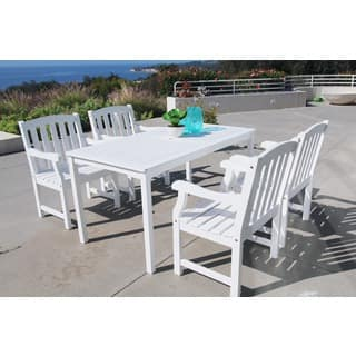 White Vifah Patio Furniture Outdoor Seating Amp Dining For