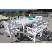 Havenside Home Surfside 7-piece Table and Arm Chair Outdoor Patio Dining Set
