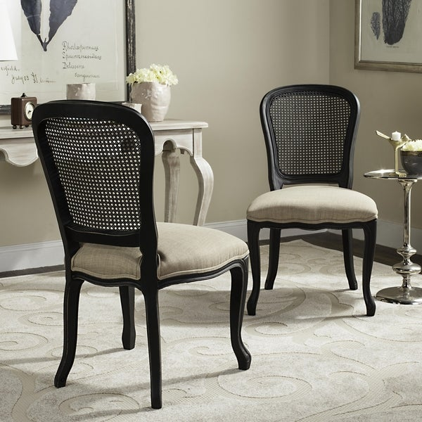 Safavieh Old World Dining Bordeaux Grey Dining Chairs (Set of 2)