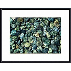 John K. Nakata 'Pebbles Abstract' Framed Print