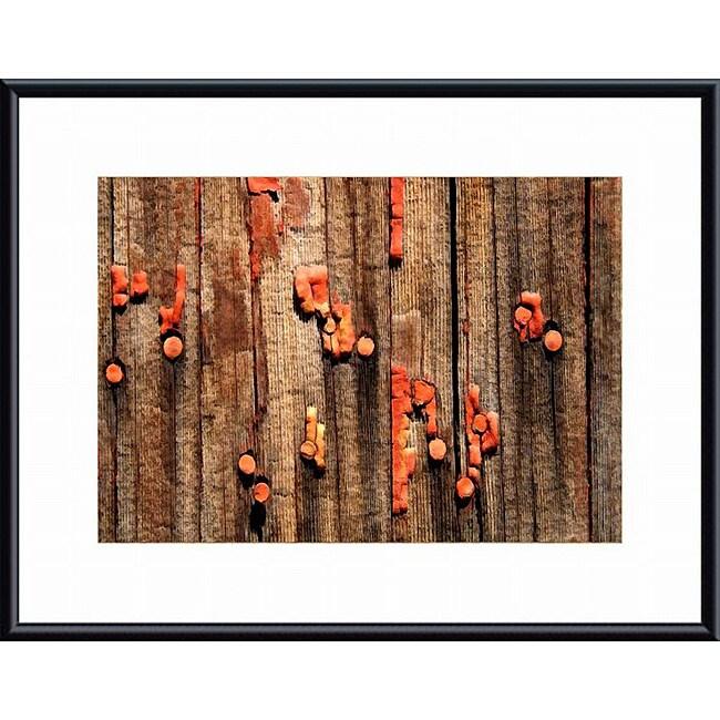 John Nakata Chipped Paint and Nails' Framed Print
