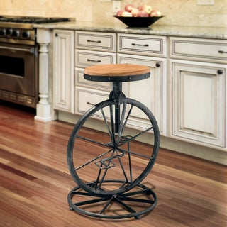 Christopher Knight Home Michaelo Bicycle Wheel Adjustable Barstool