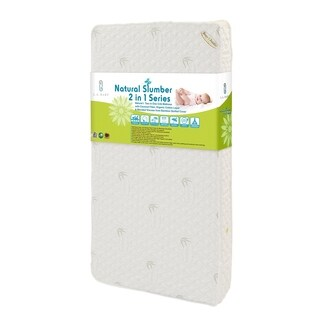 Natural I 2-in-1 Crib Mattress with Coconut Fiber, Organic Cotton Layer and Blended Viscose from Bamboo Quilted Cover
