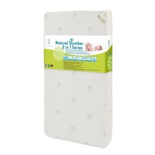 Natural I 2 In 1 Crib Mattress With Coconut Fiber Organic Cotton Layer