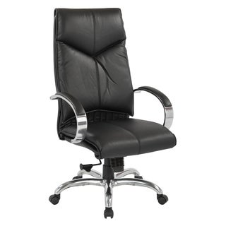 Deluxe High-back Black Executive Leather Chair