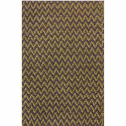 nuLOOM Handmade Herringbone Berber New Zealand Wool Plum Rug (3' x 5') - Thumbnail 2