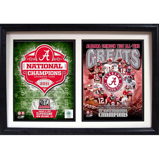 Encore Select 2011 National Champion University of Alabama Double Frame