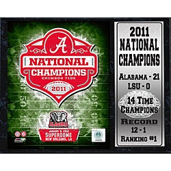 Encore Select 2011 National Champion University of Alabama Stat Plaque - Thumbnail 0