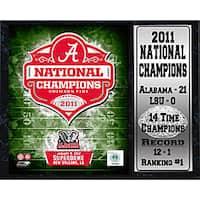 Encore Select 2011 National Champion University of Alabama Stat Plaque