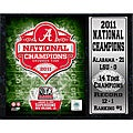 Encore Select 2011 National Champion University of Alabama Stat Plaque