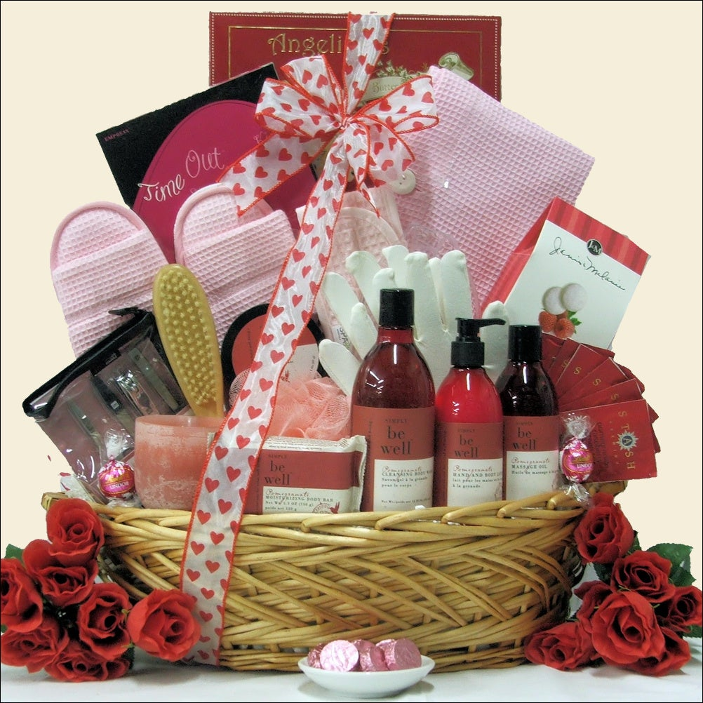 Great Arrivals Be Well Pomegranate Spa Haven: Valentine's Day Spa Gift Basket