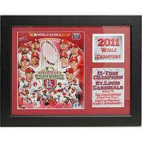 St. Louis Cardinals 2011 World Series Champions Deluxe Stat Frame
