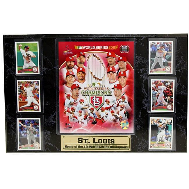 Encore Select 2011 World Series Champion St. Louis Cardinals 6-card Plaque