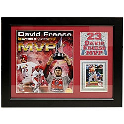 St. Louis Cardinals 2011 World Series MVP David Freese Deluxe Stat Frame