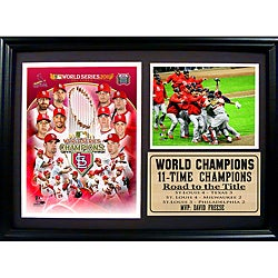 St. Louis Cardinals 2011 World Series Champions '11-Time Champions' Stat Frame