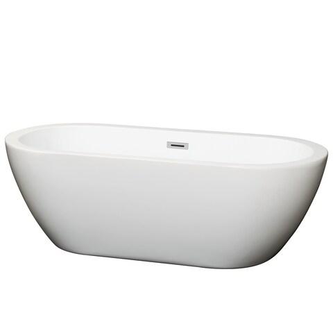 Wyndham Collection Soho Freestanding Soaking Bathtub